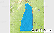 Political Map of Tchamba (Nyala), physical outside
