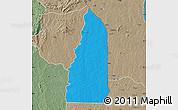 Political Map of Tchamba (Nyala), semi-desaturated