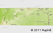 Physical Panoramic Map of Tchaudjo