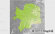 Physical 3D Map of Kara, desaturated