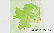 Physical 3D Map of Kara, lighten