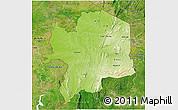 Physical 3D Map of Kara, satellite outside