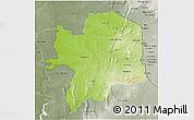 Physical 3D Map of Kara, semi-desaturated