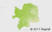 Physical 3D Map of Kara, single color outside