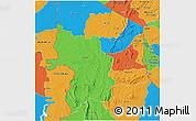 Political 3D Map of Kara