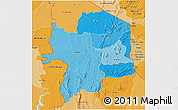 Political Shades 3D Map of Kara