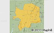 Savanna Style 3D Map of Kara