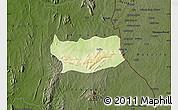 Physical Map of Assoli, darken