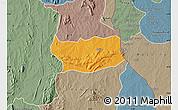 Political Map of Assoli, semi-desaturated