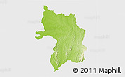 Physical 3D Map of Bassar, single color outside