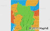 Political 3D Map of Bassar