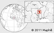 Blank Location Map of Bassar