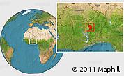 Satellite Location Map of Bassar