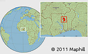 Savanna Style Location Map of Bassar