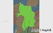 Political Map of Bassar, darken, semi-desaturated