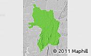 Political Map of Bassar, lighten, desaturated