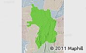 Political Map of Bassar, lighten, semi-desaturated