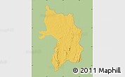 Savanna Style Map of Bassar, single color outside