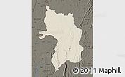 Shaded Relief Map of Bassar, darken