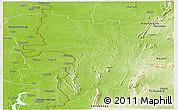Physical Panoramic Map of Bassar
