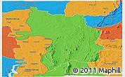 Political Panoramic Map of Bassar