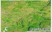 Satellite Panoramic Map of Bassar
