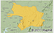 Savanna Style Panoramic Map of Bassar