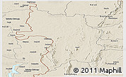 Shaded Relief Panoramic Map of Bassar