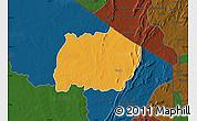 Political Map of Keran, darken