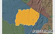 Political Map of Keran, darken, semi-desaturated