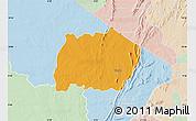 Political Map of Keran, lighten