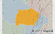 Political Map of Keran, lighten, semi-desaturated