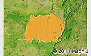 Political Map of Keran, satellite outside