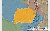 Political Map of Keran, semi-desaturated