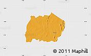 Political Map of Keran, single color outside