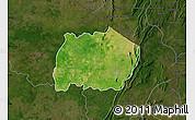 Satellite Map of Keran, darken
