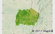 Satellite Map of Keran, lighten