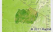Satellite Map of Keran, physical outside