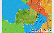 Satellite Map of Keran, political outside