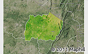 Satellite Map of Keran, semi-desaturated