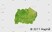 Satellite Map of Keran, single color outside