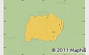 Savanna Style Map of Keran, single color outside