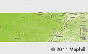 Physical Panoramic Map of Keran