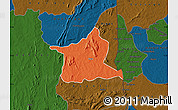 Political Map of Kozah, darken