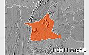 Political Map of Kozah, desaturated