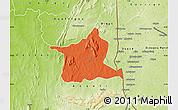 Political Map of Kozah, physical outside