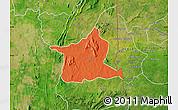 Political Map of Kozah, satellite outside