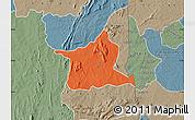 Political Map of Kozah, semi-desaturated