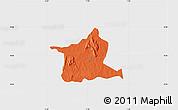 Political Map of Kozah, single color outside