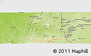 Physical Panoramic Map of Kozah